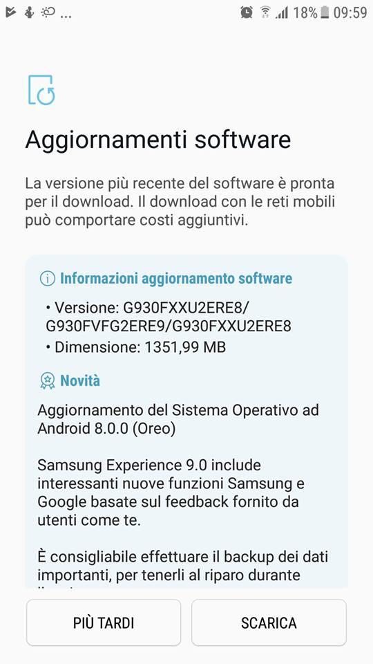 Galaxy S7 riceve Oreo in Italia! (brand Vodafone) - Spazio iTech